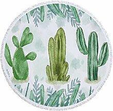 xxl.joey Strandtücher Badetuch-Kaktus-Print Aus