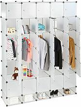 XXL Kleiderschrank Stecksystem, 25 Fächer, 5