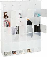 XXL Kleiderschrank Stecksystem, 25 Fächer, groß,