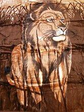 XXL Kuscheldecke Tagesdecke Decke Motiv Löwe