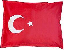 XXL Länderflaggen Riesensitzsack Türkei 380l Füllung 140 x 180 cm Indoor Outdoor Original Lumaland