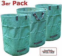 XXL Laubsack 300L PROFIQUALITÄT mit verstärkten Griffnähten stabil reißfest zum transportieren oder kompostieren von Gartenabfällen (3)