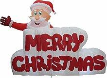 XXL LED WEIHNACHTSMANN + Merry Christmas