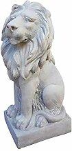 XXL Löwe Skulptur Figur Statue Garten Haus