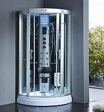 XXL Luxus LED Dampfdusche 95x95x220cm Dusche
