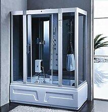 XXL Luxus LED Dampfdusche inkl. Whirlpool