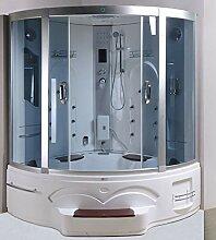 XXL Luxus LED Dampfdusche inkl. Whirlpool-SET
