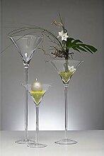 XXL Martiniglas, Bodenvase auf Fuß H. 70cm Ø