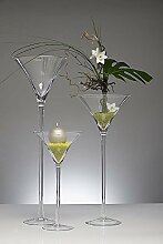 XXL Martiniglas, Glas Kelch, Glasvase mittel 50 cm