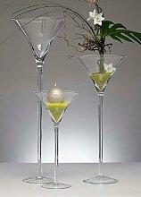 XXL Martiniglas Glas Kelch Riesenglas Glasvase