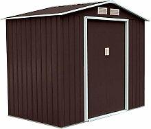 XXL Metall Gerätehaus 277x191x192cm Geräteschuppen Garten Schuppen Gartenhaus Satteldach