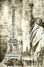XXL Poster (00908)- EIFFEL TURM - 161 x 115 cm 1-Teilig - Paris Frankreich Stadt Tour Eiffel-Großformat Riesenposter Fototapete Motivtapete Postertapete Wandbild Bildtapete Wall Mural