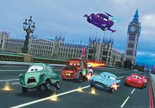 XXL Poster Fototapete Disney Cars 2 London Jagd