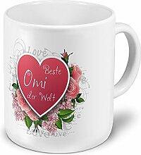XXL Riesen-Tasse Beste Omi der Welt - Motiv Herz -