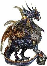 XXL Sehr große farbige Drachenfigur mit Licht