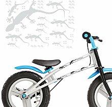 XXL Set Gecko Aufkleber für das Bike