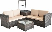 XXL Sitzgruppe Polyrattan Gartenlounge Set