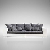 XXL Sofa in Grau Braun Weiß