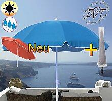 XXL Sonnenschirm inkl. Schirmhülle gross, 180 cm / 1,80 m EDEL mit Volant, Sonnendach Schirm Strandschirm r8 eckig, marine-blau Rand weiß, 8-tlg. Strandschirm,Sonnendach /Sonnenschutz Dach, XXL-Klappschirm, Gartenschirm extrem wetterfest, klappbar, tragbar, seewasserfest, hochwertig robust stabil, Sonnenschutz, stabiler Schirm Klappschirm, Strandschirme, Sonnenschirme, Sonnenschirm-Tische, Regenschirm Picknickschirme