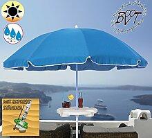 XXL Sonnenschirm inkl. Schirmtisch gross, 180 cm / 1,80 m EDEL mit Volant, Sonnendach Schirm Strandschirm r8 eckig, marine-blau Rand weiß, 8-tlg. Strandschirm,Sonnendach /Sonnenschutz Dach, XXL-Klappschirm, Gartenschirm extrem wetterfest, klappbar, tragbar, seewasserfest, hochwertig robust stabil, Sonnenschutz, stabiler Schirm Klappschirm, Strandschirme, Sonnenschirme, Sonnenschirm-Tische, Regenschirm Picknickschirme