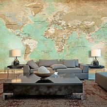 XXL Tapete - Turquoise World Map II