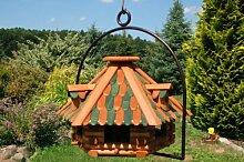 XXL Vogelhaus mit Gauben Nr13 Dach grün und