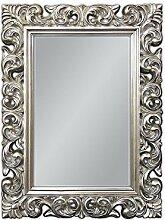 XXL Wandspiegel ANTIK ROKOKO 120 x 90 cm Barock in Silber Florenza UVP 899€ Spiegel