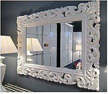 XXL Wandspiegel ANTIK ROKOKO 120 x 90 cm Barock WEIß Florenza UVP 899€ Spiegel
