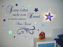 XXL Wandtattoo mit Namen fürs Kinderzimmer in