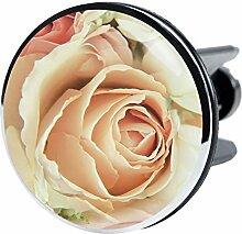 XXL Waschbeckenstöpsel Rosa Rose, deckt den kompletten Abflussbereich ab, Hochglanz Design ✶✶✶✶✶