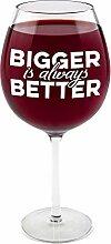 XXL Weinglas Bigger is always Better mit 750 ml