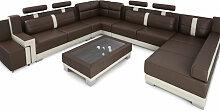 XXL Wohnlandschaft Leder KÖLN - Couch U-Form -