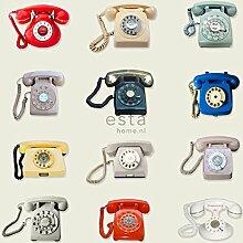 XXLVliestapete retro Telefone - 158503 - von ESTAhome.nl