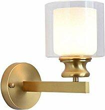 XXQ Einfache kupferne Wandlampe, nordische