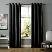 XXQ Fenster Gardinen schwarz Oxford Tuch einfach