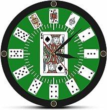XXSCXXSC Wanduhr Spaten Spielkarten Texas Hold