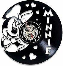 xxssg Nette Maus Vinyl Rekord Wanduhr Modernes