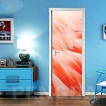 XXXCH 3D Türposter -Feder kreativ 86x200cm