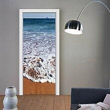 XXXCH 3D Türposter -Strand Wellenlandschaft