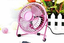 XXXL. USB Mini Desktop Fan Power PC Laptop Ventilator Schreibtisch Tisch mit USB Pink2 6