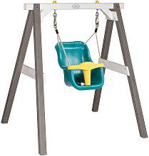 XXXLutz Babyschaukel mit Sitz Grau, Weiß , Holz,