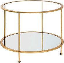 XXXLutz BEISTELLTISCH rund , Metall, Glas, 60x45 cm