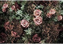 XXXLutz FOTOTAPETE, Grau, Papier, Rose, 368x254 cm