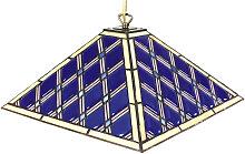 XXXLutz HÄNGELEUCHTE, Blau, Metall, Glas, 40x111