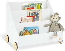 XXXLutz Kinder-Bücherregal Holz Weiß , 42x57 cm