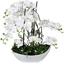 XXXLutz KUNSTPFLANZE Orchidee , Weiß, Keramik, 68