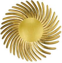 XXXLutz LED-WANDLEUCHTE , Goldfarben, Metall