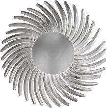 XXXLutz LED-WANDLEUCHTE , Silber, Metall, 12 cm