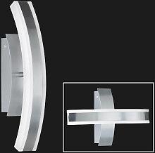 XXXLutz LED-WANDLEUCHTE , Weiß, Alufarben,