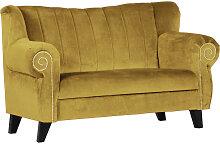 XXXLutz SOFA Webstoff Gelb , 2-Sitzer, 168x96x75 cm